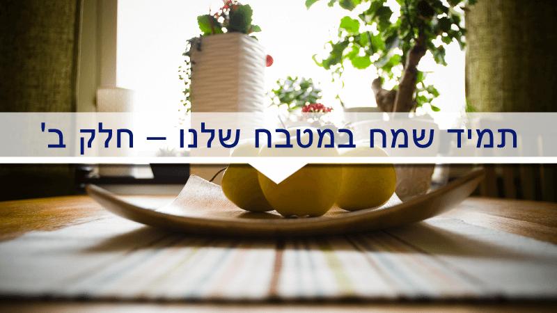 תמיד שמח במטבח שלנו – חלק ב'